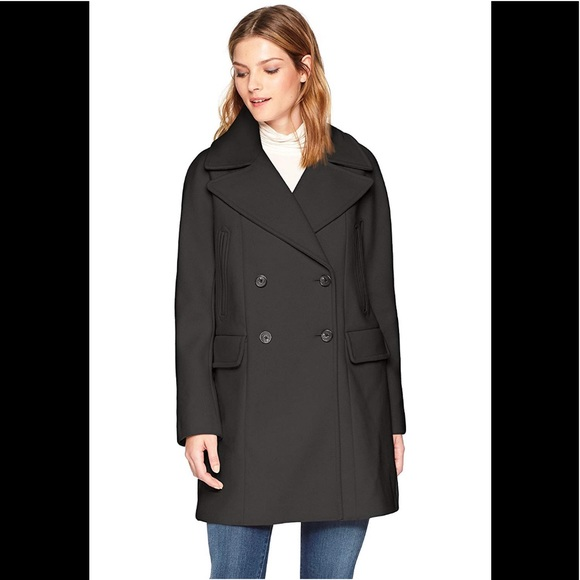 VINCE CAMUTO Womens Double Breasted Wool Coat